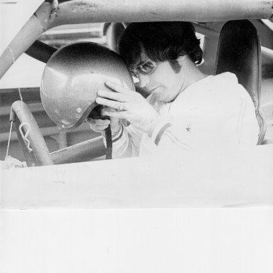 Tim Leeming in Race Car