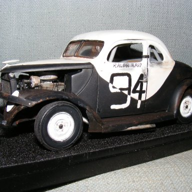 A model of 94 as it was the last night it raced at Bowman Gray, Driver Ralph Harpe.