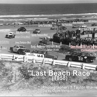 Speedy & Jimmy in 1958 Beach Race