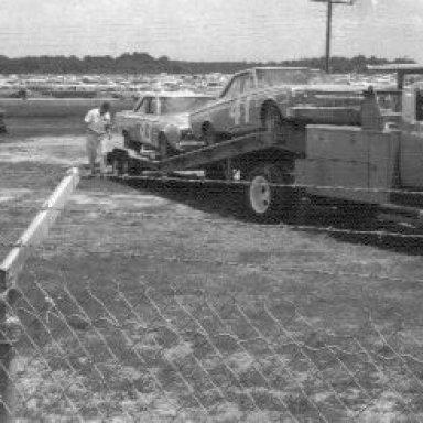 Richard Petty Car on Truck