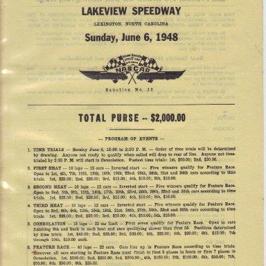 1948 NASCAR Entry Blank #1