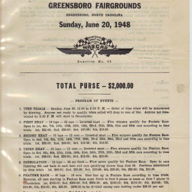 1948 NASCAR Entry Blank #2
