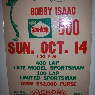 1st Annual Bobby Isaac Memorial Poster
