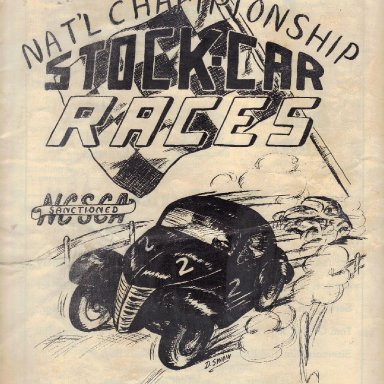 First Martinsville Speedway Program 1947