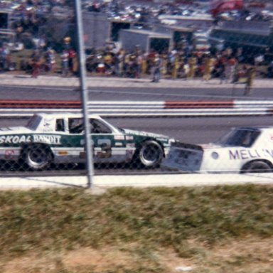 Harry Gant and Benny Parsons at Wilkesboro 1981