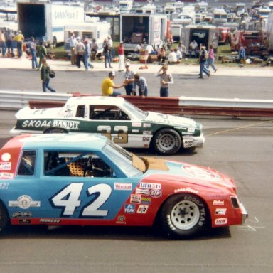 Kyle Petty and Harry Gant at Wilkesboro Spring 81