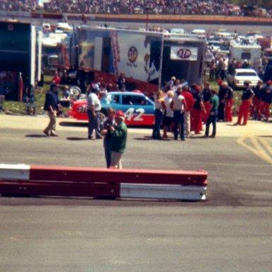 Kyle Petty making adjustments before Wilkesboro 1982