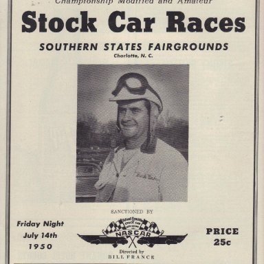 Southern States Fairgrounds Speedway 1950