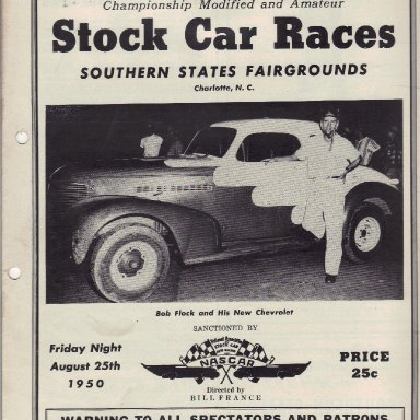 Southern States Fairgrounds Speedway 1950 - #2