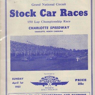 Charlotte Speedway 1951