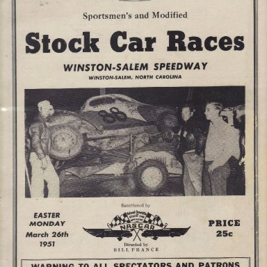 Winston-Salem Speedway 1951