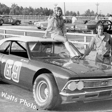 Don Miller With Miss Columbia Speedway '71
