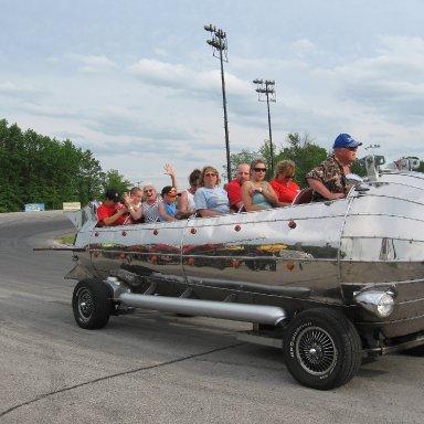 Having a fun ride! Lorain County Speedway