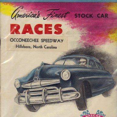 Occoneechee Speedway 1952