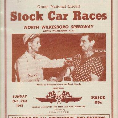 North Wilkesboro Speedway 1951