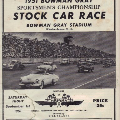 Bowman Gray Stadium 1951