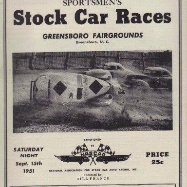 Greensboro Fairgrounds Speedway 1951