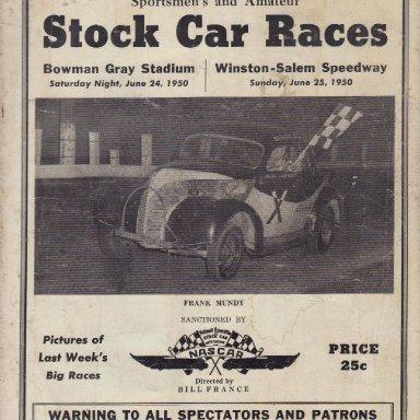 Bowman Gray Stadium - Winston Salem Speedway 1950