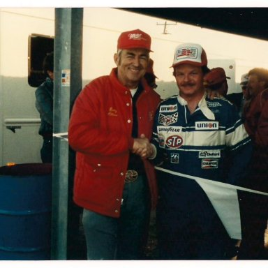Bobby Allison and me after Daytona win