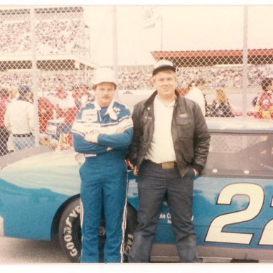 Alan Woodard and me at Daytona