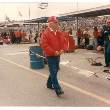 Junior Johnson and Daddy at Daytona