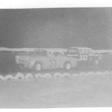 Joe Lee Johnson racing Bobby Allison in 1964 _Dexter Walker Photo_Walker Phot