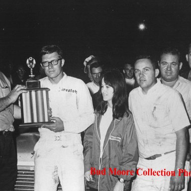 Lil' Bud Moore in Victory Lane