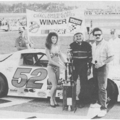 Butch Miller took the winn in the 1988 Florida 200 which was a NASCAR AACS event _Buddy Bryan Photo_