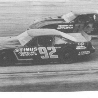 1988 Cracker 200 - Dick and Wayne Anderson battle side by side _Rick Battle Photo_