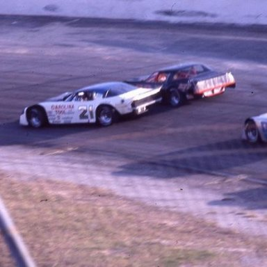 All Pro - David Pearson gets loose as Dick Anderson works the high side _Glendenning Photo_