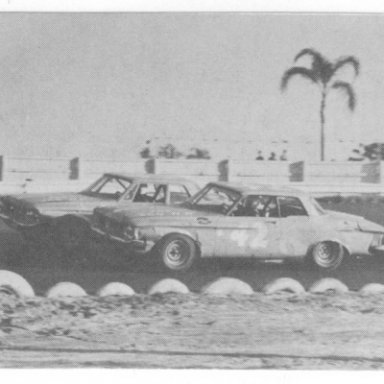 Richard Petty passes his brother Maurice on his way to winning the only NASCAR GN race held at the track in 1962___