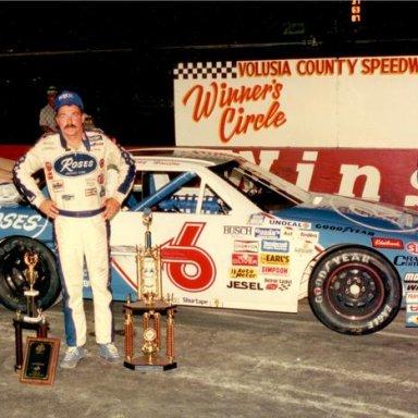 Tommy Houston after winning the 1990 NASCAR Busch GN Firecracker 200 _Don Bok Photo_