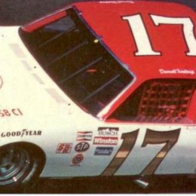 Darrell Waltrip on his way to winning the 1984 Goody_s 300___