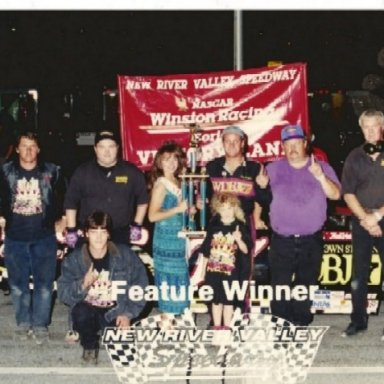 Tony McGuire and crew @ New River Valley Speedway 1996