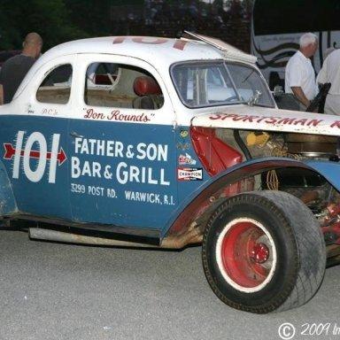 Unrestored 101 Coupe Utica Rome Speedway 7-22-09