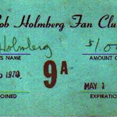 Bobby Holmberg #9A Fan Club