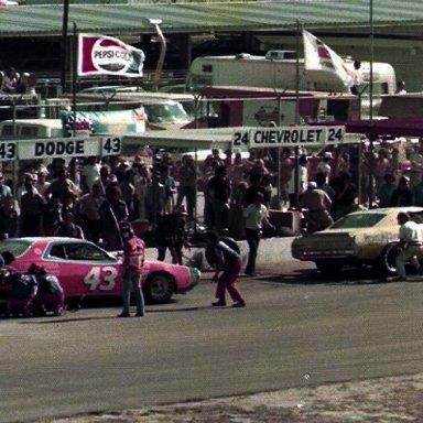 Richard Petty and Cecil Gordon Daytona 1976