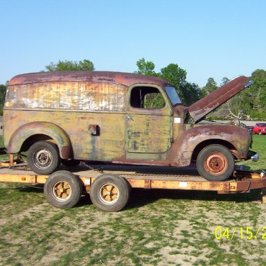 Old Panel truck in auction