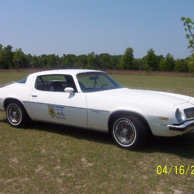 Our 75 Camero with the TSCM sign