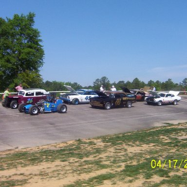 Part of the old cars show