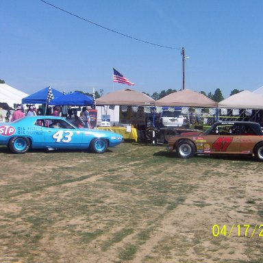 The 43 and Emery Shealys 47 in front of TSCM tent