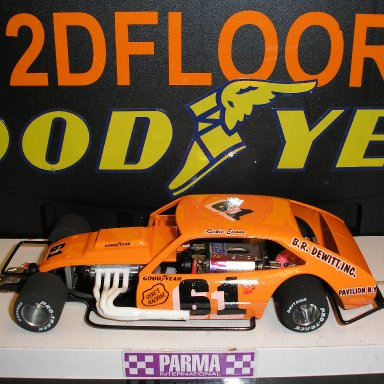#61 Richie Evans Pinto slotcar built by Scotty W.
