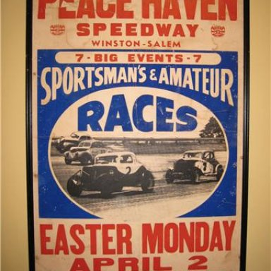 Peace Haven Speedway Poster