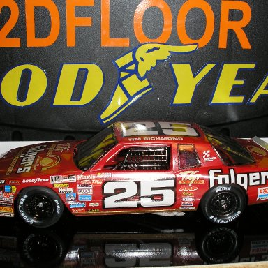 #25 Tim Richmond model built by Scotty W