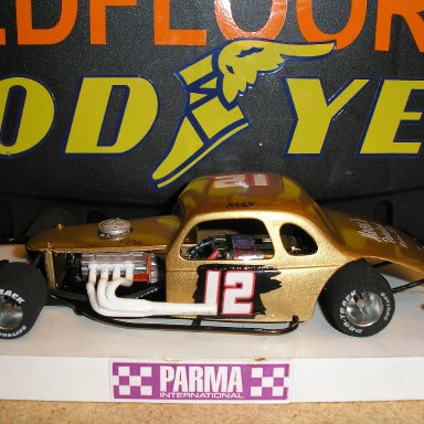 #12 Max Berrier slotcar built by Scotty W