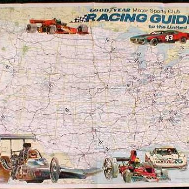 Racing guide map circa 1976