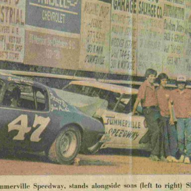 Summerville SC Speedway 1981 Charlie Powell and sons