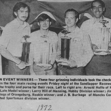 Orangeburg SC winners 1972