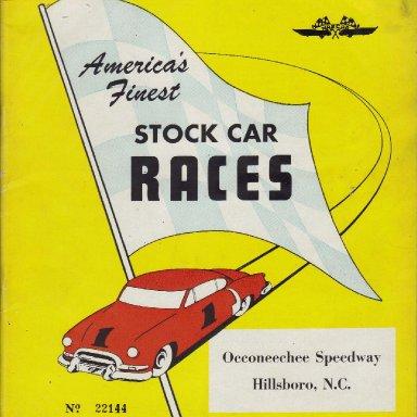 Occoneechee Speedway 1953