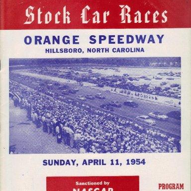 Orange Speedway 1954